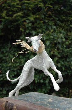 Lorraine Corrigan paper/wire dog.