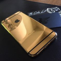 24k Gold iPhone 6. @colurlab