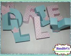Letras decorativas 3D-Princessa