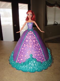 Aerial Princess Doll Cake By Curtis-C-Cakes