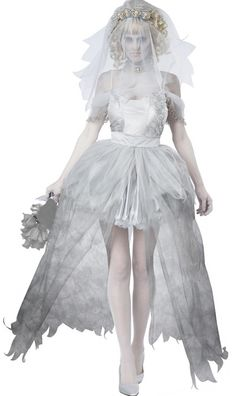 Cheap Sexy Ghostly Zombie Bride Costume for Halloween wholesale online - All Products,Halloween Costume - Lover-clothes.com on We Heart It