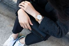 Fashion Gone rouge Larsson And Jennings Watch, Fashion Gone Rouge, Sneakers Looks, Cool Style, My Style, Wearing Black, What I Wore, Autumn Winter Fashion, Outfit Of The Day
