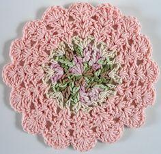 Dishcloths • Free Crochet Patterns  #355 Silky Pink Dishcloth – Maggie Weldon Maggies Crochet