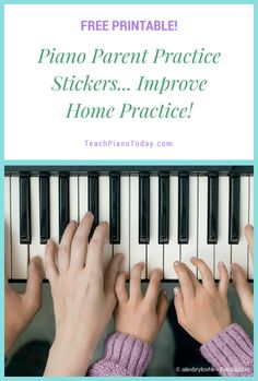 Give this to your piano parents to encourage their participation at home. As they listen to their child practice they select a sticker and place it on the piece. Great way to provide encouragement (and for you to check to see how much practice is happening!) #PianoTeaching #Freebie