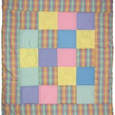 Squares and Bears - Simple! Easy Quilts, Quilting Projects, Squares, Bears, Blanket, Simple, How To Make, Scrappy Quilts, Blankets