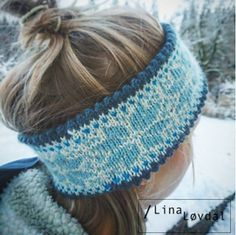 Winter sky knitted headband nordic design