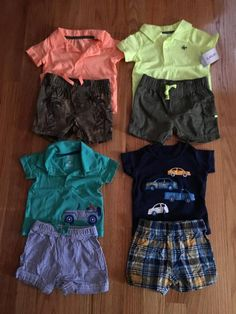 FOR SALE: Lot includes 9 outfits + 6 onesies. Everything is in EUC or new with tags. Additional pictures upon request. Price includes shipping. Brands: Carters, polo, Gymboree. Price includes shipping MMAO