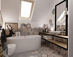 natural interior ~ ground floor on Behance Natural Interior, Krakow, Ground Floor, Bathtub, Behance, Flooring, Interior Design, Board, Projects