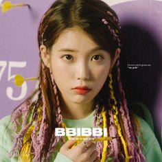 IU rocks colorful braids in 'Bbi Bbi' concept photos Kpop Hair, Poses, Korean Actresses, K Idols, Korean Singer, Girl Crushes, Teaser, Kpop Girls, Album Covers