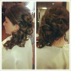 Wedding hair. Pinup curls salon!