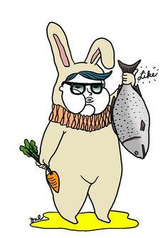 人人說食紅蘿蔔對眼睛好, 其實食三文魚先最有效。 by graphicairlines, via Flickr