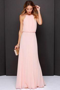 Bariano Melissa Peach Maxi Dress