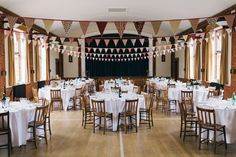 Rotherwick Village Hall Bunting English Village Hall Fete Wedding http://eclection-photography.com/