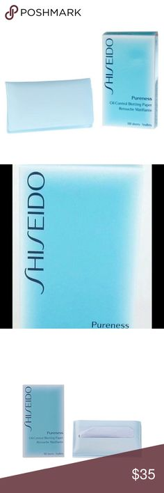 Shiseido Pureness Oil-Control Blotting Paper Set of three Shiseido blotting paper boxes What it is: A portable pouch of oil-absorbing, powder-coated sheets that leave skin refreshed and matte.   What it is formulated to do: Eliminate excess sebum and shine for a fresh look and longer-lasting makeup application. Don't leave home without this convenient touch-up essential.   What else you need to know: This product contains a powerful oil-absorbing ingredient, Hydroxyapatite, that provides the…