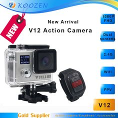 65.00$  Watch here - http://aiufb.worlditems.win/all/product.php?id=32758331271 - Mini Camera 20M Pixels Night Mode 170D Sport Action Camera V12 Dual screens FHD 1080P 2.4G Watch Remote Control Waterproof