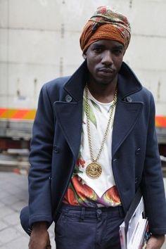 Men who wear wraps. Yes. #AfricanFashion