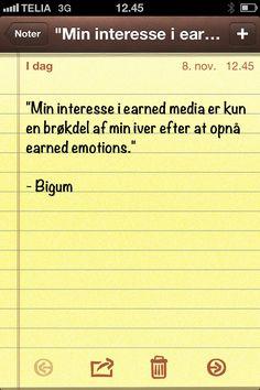 """Min interesse i earned media..."" (Dagens citat af @thomasbigum)"