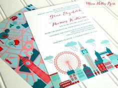 Wedding Invitations  London Collection