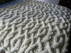 Cable Me Crazy Chunky Cable Knit Blanket - Pattern Only - permission to sell what you make