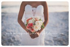 Photography & Design By Lauren- an on location photographer specializing in Weddings, Couples, High School Seniors, Families and Models based in Indiana 502.230.1907   An October wedding on the beach, Destin Florida   beach wedding    flowers   formal pictures