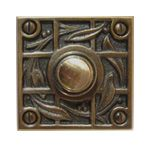 Vine and Trellis Design Doorbell. This doorbell collection consists of remanufactured period doorbells circa to the They would make a perfect addition to any home. All doorbells are made of solid brass or copper and come in a standard antique finish. Craftsman Style Exterior, Craftsman Bungalows, Craftsman Houses, Door Knobs And Knockers, Trellis Design, Arts And Crafts Movement, Home Hardware, Home Crafts, Art Nouveau