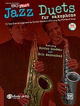 Gordon Goodwin's Big Phat Jazz Saxophone Duets. By Gordon Goodwin with Eric Marienthal -- Attention saxophone players -- do you need a challenging duet book?    Composed and arranged by Gordon Goodwin at the medium-advanced to advanced level, these 10 saxophone duets are completely interchangeable for any combination of Eb or Bb saxophones. You can play with a duet partner or use the CD and play duets with great saxophonists Gordon Goodwin (tenor sax) or Eric Marienthal (alto sax). #music…