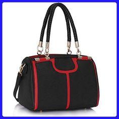 New Womens Satchel Designer Bags Ladies Fashion Handbags Tote Shoulder Faux Leather Celebrity Style - Totes (*Amazon Partner-Link)