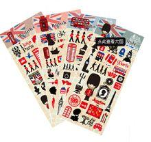 5 pçs/lote estilo britânico adesivos londres adesivos de viagem / teste padrão bonito do guarda real / caixa de correio / big ben adesivos(China (Mainland))