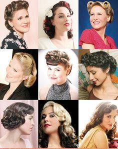 Женщина.: Прически в стиле 40-х годов