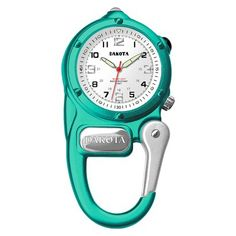 Mini Clip L. Microlight Up Watch Aqua Blue Carabiner Clip Dakota Bright L. light-up military white dial with Luminescent hands and hour markers. Sport Watches, Cool Watches, Watches For Men, Boat Safety, Amazon Sale, Mini, Silver Pocket Watch, Online Watch Store, Watch Companies