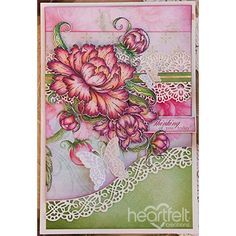 Pretty Painted Peonies - created w/ the Sweet Peony Collection from Heartfelt Creations - #HeartfeltCreations #cardmaking #scrapbooking #spring #papercraft #peony #anyoccasion #thinkingofyou #paperflowers #butterfly #friendship