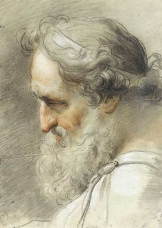 Gaetano Gandolfi, Study of bearded male head, 1797