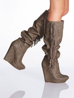 Colin Stuart Fringe Wedge Boot #VictoriasSecret http://www.victoriassecret.com/shoes/all-boots/fringe-wedge-boot-colin-stuart?ProductID=66461=OLS?cm_mmc=pinterest-_-product-_-x-_-x