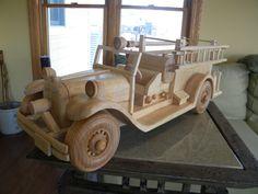 Authentic Antique Firetruck Replica