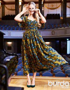 Платье: Burda 11/ 2014/ 106 / Burdastyle