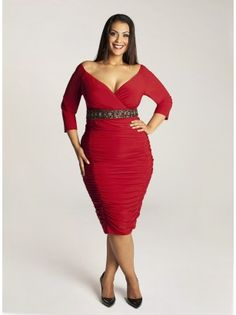 Loving the belt on our Ambrosia Dress in Red!  Really like these clothes on Igigi.com but they are so expensive!