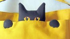 Resultado de imagem para artesanato em tecido com moldes de gatos