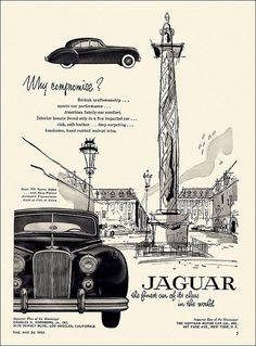 Jaguar Automobile Ad, 1954