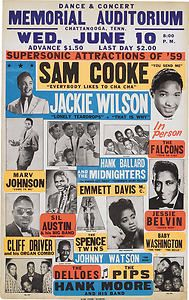 Sam Cooke / Jackie Wilson 1959 Tour Poster