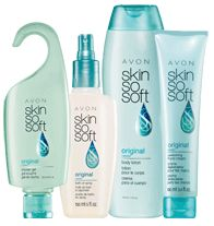 SKIN SO SOFT Original 4-Piece Radiant Look Collection - Now with Jojoba Oil. Softens and conditions skin all day. Experience crisp botanicals and fresh herbals. Collection include: Bath Oil Spray,  Body Lotion, Shower Gel, Replenishing Hand Cream. Regularly $12.99, buy Skin So Soft Original products at http://eseagren.avonrepresentative.com