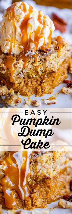 Hypoallergenic Pet Dog Food Items Diet Program Easy Pumpkin Dump Cake From The Food Charlatan. It Really Doesn't Get Any Easy Or Tastier Than This Pumpkin Dump Cake Mix Up A Can Of Pumpkin Pie Mix With A Few Simple Ingredients, Then Dump A Dry Yellow Cake Easy Pumpkin Pie, Pumpkin Pie Recipes, Pumpkin Dessert, Simple Pumpkin Pie Recipe, Pumpkin Cakes, Pumpkin Pumpkin, Healthy Pumpkin, Pumpkin With Cake Mix, Yellow Cake And Pumpkin Recipe