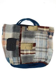 Japanese boro patchwork tote bag/kimono ranru