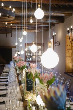 Protea Reception Table Decor Vintage Elegance Neutral South African Wedding Lauren Kriedemann photography via Rustic Wedding Decorations, Reception Table Decorations, Decoration Table, Protea Wedding, Wedding Bouquets, Wedding Flowers, Wedding Hijab, Wedding Dresses, Wedding Table