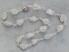 Endless genuine sea glass necklace with fish lobster clasp Sea Glass Necklace, Lobster Clasp, Fish, Inspired, Beach, Bracelets, Silver, Inspiration, Jewelry