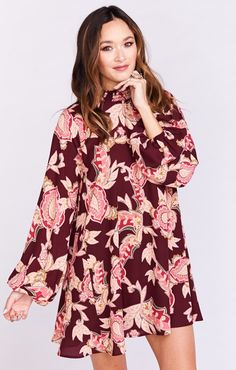 JuneBug Bell Dress ~ Vino Vine | Show Me Your Mumu