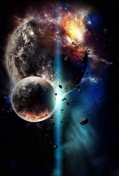 galaxy in cosmos Planets Wallpaper, Wallpaper Space, Galaxy Wallpaper, Wallpaper Backgrounds, Iphone Wallpaper, Nice Wallpapers, Fantasy Landscape, Fantasy Art, Dark Fantasy