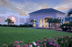 Sea Trail Golf Resort and Convention Center at Sunset Beach; garden tented reception, beach wedding