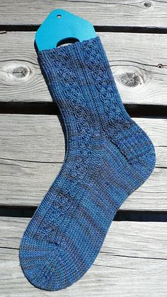Ravelry: Celtic Denim Sock pattern by Judy Sumner