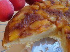 Delicious, easy peach upside down cake. Click for recipe.