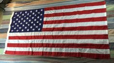 U.S. Flag 3.5-foot high by 6.65-foot long Armed Services Military Quality Heavy